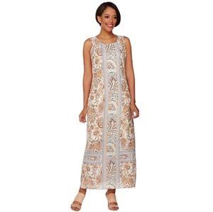 C WONDER  engineered print maxi dress